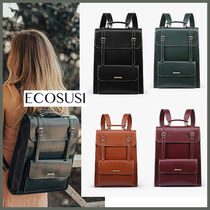 国内発【ECOSUSI】Vintage Backpack for Laptop 15.6 インチ