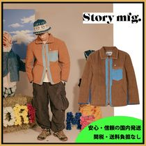 Story mfg. Bark Brown Quilted Linen ジャケット