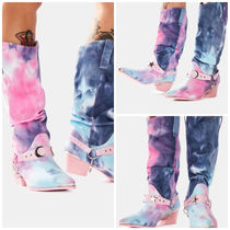 xoxo【 DOLLS KILL 】DEATH PROOF PASTEL TIE DYE COWBOY BOOTS