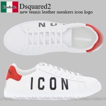 Dsquared2 new tennis leather sneakers icon logo