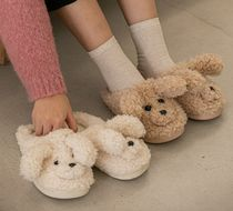 BITE ME ★ PUPPY FUR SLIPPERS 2color