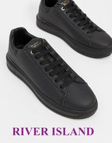 RIVER ISLAND wedged trainers/black