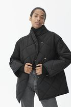 "ARKET(アーケット) コート 日本未入荷 ""ARKET"" ☆Quilted Shawl Collar Jacket(black)"
