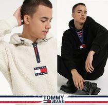 TOMMY JEANS★正規品★Badge Half Zip-Up Hooded Sherpa/追跡付