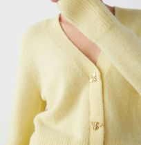 """""""& Other Stories"""" Bee Button Alpaca Blend Cardigan Yellow"""