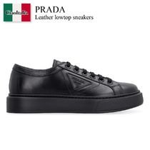 Prada Leather lowtop sneakers