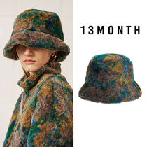 13MONTH(サーティーンマンス) ハット ★13MONTH★新作★送料込★韓国 帽子 PATTERNED FUR BUCKET HAT