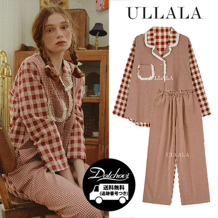 ULLALA ルームウェア・パジャマ ULLALA PAJAMAS Anne's Excitement Pair Red HM253 追跡付