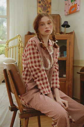 ULLALA ルームウェア・パジャマ ULLALA PAJAMAS Anne's Excitement Pair Red HM253 追跡付(2)