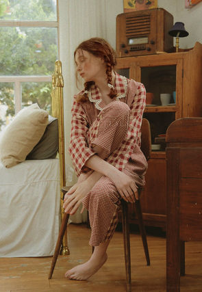ULLALA ルームウェア・パジャマ ULLALA PAJAMAS Anne's Excitement Pair Red HM253 追跡付(3)