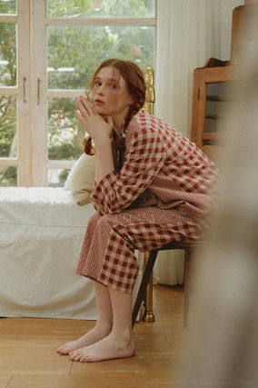 ULLALA ルームウェア・パジャマ ULLALA PAJAMAS Anne's Excitement Pair Red HM253 追跡付(4)