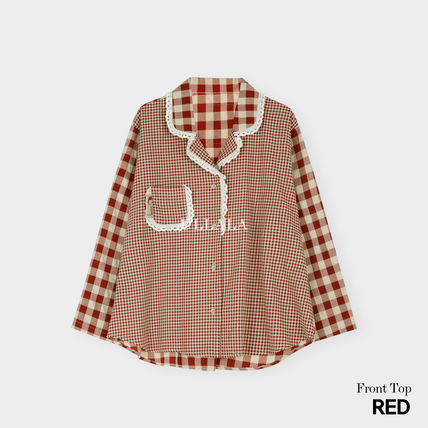 ULLALA ルームウェア・パジャマ ULLALA PAJAMAS Anne's Excitement Pair Red HM253 追跡付(9)