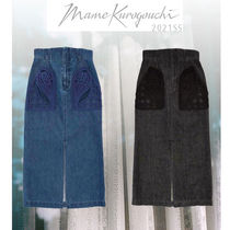 2021SS【国内発送 Mame Kurogouchi / Embroidered Denim Skirt】