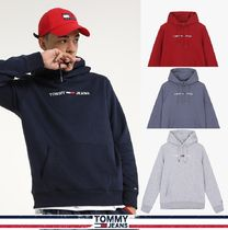 TOMMY JEANS★正規★Cotton Blend Straight Fit Logo Hood/追跡