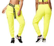 新作♪Zumbaズンバ Bright Bold Zumba Cargo Sweatpants-Caution