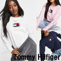 ■Tommy Jeans■ フラッグ ロゴ 長袖Tシャツ(送関税込)