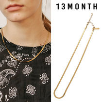 13MONTH(サーティーンマンス) ネックレス・チョーカー ★13MONTH★送料込み★正規品 THICK FLAT SNAKE CHAIN NECKLACE