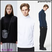 【GROOVERHYME】◆1+1◆DAILY TURTLE NECK T-SHIRTS 3色◆