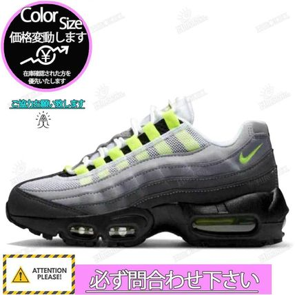 "Nike スニーカー NIKE GS AIR MAX 95 OG ""NEON YELLOW"" 2020 イエローグラデ(3)"