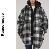 Raucohouse(ラウコハウス)★Wool Check Over Qualting Shirt