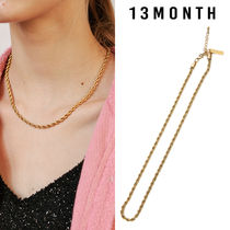 13MONTH(サーティーンマンス) ネックレス・チョーカー ★13MONTH★送料込み★正規品 韓国 大人気  ROPE CHAIN NECKLACE