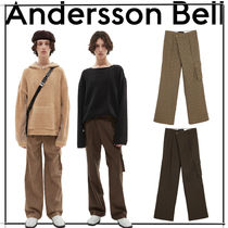 [ANDERSSON BELL]★ CARGO POCKET WIDE LEGGED CHECK TROUSERS★