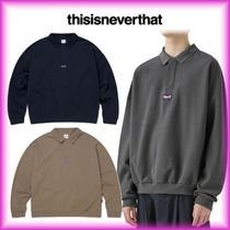 *thisisneverthat3 Button L/SL Polo ポロシャツ 男女兼用