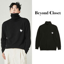 ★BeyondCloset★SIGNATURE LOGO CLASSIC WOOL TURTLE NECK KNIT
