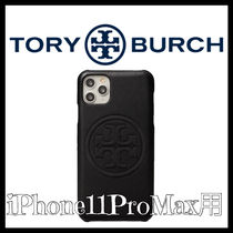 Tory Burch★Perry Bombe上品なレザーiPhone11 Pro Maxケース黒