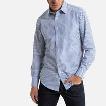 LA Redoute(ラルドゥート) シャツ La Redoute Striped Cotton Shirt with Long Sleeves