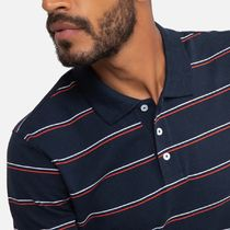 LA Redoute(ラルドゥート) ポロシャツ La Redoute Striped Cotton Polo Shirt with Short Sleeves