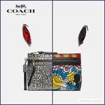 【Coach】DISNEY MICKEY MOUSE X KEITH HARING ACADEMY POUCH
