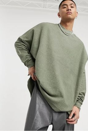 ASOS DESIGN oversized turtle neck sweatshirt with raw hem