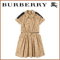 Kids♪ 新作 ☆BURBERRY☆ Star and Monogram Motif Dress Sand