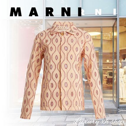関税無料  VIP価格♪ MARNI Embroidered-eyelet taffeta jacket