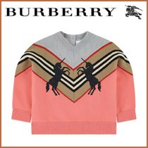 Baby♪ 新作 ☆BURBERRY☆ Branded, Knitted Sweater Pink
