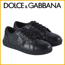 Kids♪ 人気 ★DOLCE&GUBBANA★ Black Classic Branded Trainers