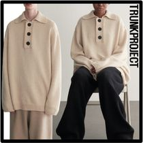 ★関税込★TRUNK PROJECT★Pique Polo Cashmere Knit Sweate.r★