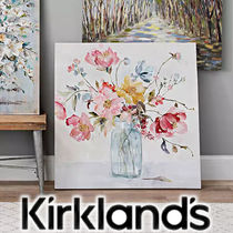 大人気◆Kirkland's◆Watercolor Floral Vase◆キャンバスアート