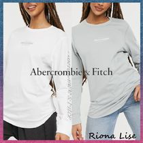 Abercrombie & Fitch(アバクロ) Tシャツ・カットソー Abercrombie & Fitch★ ロゴスリーブ クルーネック 長袖Tシャツ