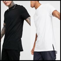 ASOS DESIGN longline t-shirt with crew neck and side splits