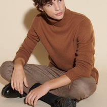 """""""sandro homme"""" Roll neck wool and cashmere sweater Camel"""