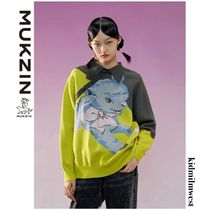 Sweater with Cartoon Jacquard☆魅力的なバイカラーデザイン*