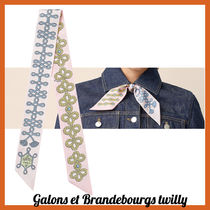 【HERMES直営店】ツイリー《Galons et Brandebourgs twilly》