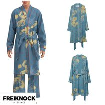 FREIKNOCK(フライノック) ルームウェア・パジャマ 人気新作★FREIKNOCK★BOWIE PAJAMA ROBE(SKY BLUE