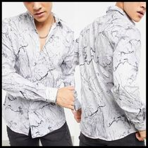 Twisted Tailor skinny shirt with marble print