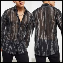 Twisted Tailor sheer shirt with gold detail