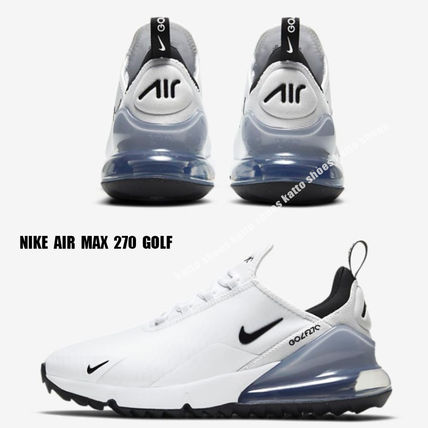 Nike メンズ・シューズ NIKE★AIR MAX 270 GOLF★兼用★WHITE/PURE PLATINUM/BLACK