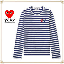 PLAY COMME des GARCONS(プレイコムデギャルソン) Tシャツ・カットソー 関送込★PLAY COMME des GARCONS★大人気ストライプロゴTシャツ