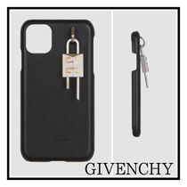 GIVENCHY☆CLUTCH BAG FOR IPHONE 11 IN LEATHER WITH 4G LOCK